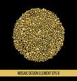 Mosaic golden ball vector image vector image