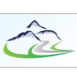 Mountain logo 6 vector image vector image