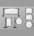 outdoor 3d retail lighting billboards set vector image vector image