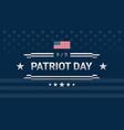 patriot day 911 powerful design dark blue vector image vector image