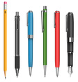 Pens and pencil vector image vector image