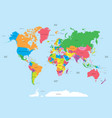 political map of the world vector image vector image