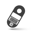 price tag icon with space for barcode and qr code vector image vector image