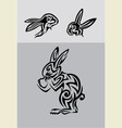 rabbit set vector image vector image
