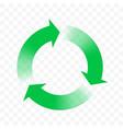 recycling icon arrow circle symbol eco waste reuse vector image vector image