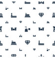 royal icons pattern seamless white background vector image vector image