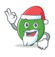 santa lime mascot cartoon style vector image vector image