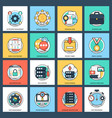 set business and data management flat i vector image vector image