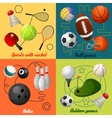 Sports 4 flat icons composition vector image vector image