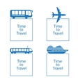 time to travel concept vector image