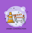 traffic cone road safety barrier and restrictive vector image