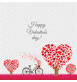 valentines day card transparent background vector image vector image