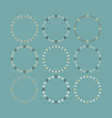 vintage and cute empty circle floral emblems set vector image vector image