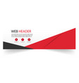 web header abstract black red design image vector image