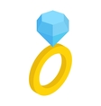 Wedding ring isometric 3d icon vector image vector image