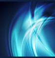 dark blue smooth blurred abstract waves background vector image