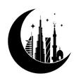 Dubai city silhouette symbol vector image