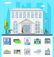 bank building administrative commercial house vector image