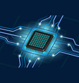 computer processor electronic technology vector image