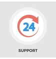 Support 24 hours flat icon vector image