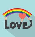 LGBT Rainbow With Heart Design vector image