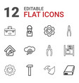 12 maintenance icons vector image vector image
