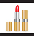 3d model of realistic red lipstick vector image