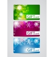 Abstract Beautiful Gift Card Christmas Design Set vector image vector image
