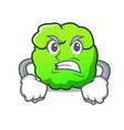 angry shrub mascot cartoon style vector image