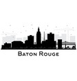 baton rouge louisiana city skyline silhouette vector image vector image
