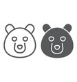 bear line and glyph icon animal and zoo grizzly vector image