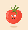 bright poster with cute cartoon tomato vector image vector image