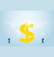 businessmen pull the rope for dollar symbol vector image vector image