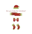 card with Christmas look vector image vector image