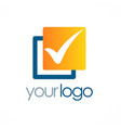 check mark square logo vector image vector image