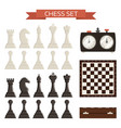 chess board and chessmen isolated on white vector image