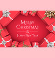 christmas banner design with merry vector image