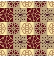 Christmas seamless pattern Heart snowflakes New vector image
