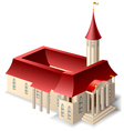 church building vector image vector image