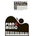 classical concert emblem vector image vector image