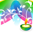 colorful background of diwali vector image