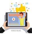 concept video blogging vector image vector image