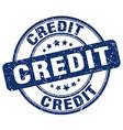 credit blue grunge round vintage rubber stamp vector image vector image