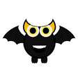 cute halloween bat cartoon character vector image vector image
