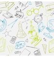 Education icon doodle seamless