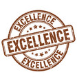 Excellence stamp vector image