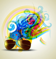 eye glass vector image