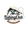 fishing logo design template vector image