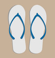 flip flops top view on sand vector image