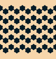 geometric floral seamless abstract black pattern vector image vector image